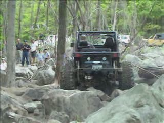 Two jeeps fighting their way up the hill from:ATV CRASHER