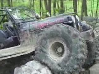 Jeep Climbing over rocks from:ATV CRASHER
