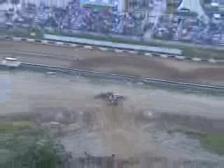Hill Climber spraying dirt on 2nd level from:ATV CRASHER